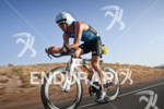 Luke Bell (AUS) on the bike at the Marines Ironman…