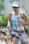 Mirinda Carfrae competing in the run portion of the 2011…