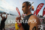 Eneko Llanos competing in the swim portion of the 2011…