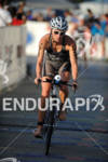 Amanda Stevens competing in the bike portion of the 2011…