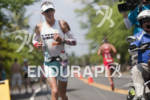 Julie Dibens (GBR) runs on Alii Drive during the 2011…