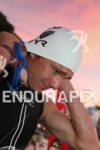 Ben Hoffman (USA) prepares for the swim at the 2011…