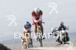 Andy Potts competing in the bike portion of the 2011…