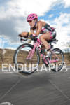 Maki Nishiuchi competing in the bike portion of the 2011…
