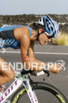 Linsey Corbin competing in the bike portion of the 2011…