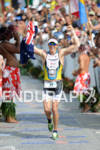 Pete Jacobs finishes the 2011 Ford Ironman World Championship in…