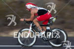 Chris Boudreaux (USA) on bike at the 2011 Ford Ironman…
