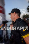 Lance Armstrong prior to race start at the 2012 Ironman…