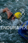 Lance Armstrong swimming at the 2012 Ironman 70.3 Panama in…