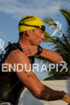 Lance Armstrong exits teh water at the 2012 Ironman 70.3…