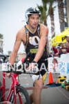 Jesse Thomas exits T1 at the  Ironman 70.3 California on…