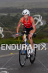 Meredith Kessler on bike at the  Ironman 70.3 California on…