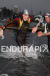 Andy Potts is first out of the water at the…