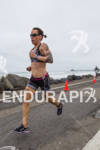 Heather Jackson on run at the  Ironman 70.3 California on…