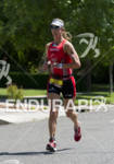 Meredith Kessler in stride competing in the run portion of…