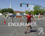 Meredith Kessler competing in the run portion of the Ironman…