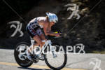 Melanie McQuaid on the bike at the Avia Wildflower Triathlon…