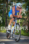 Benoit Bourguet on bike at the Ironman Texas on May…