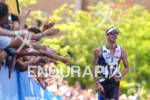 Mathias Hecht comes down the finish line at the Ironman…