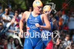 Abbie THORRINGTON (GBR) exits swim first at the 2012 ITU…