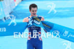 1st Jonathan BROWNLEE (GBR) crossing the finish line at the…