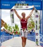 Jodie Swallow celebrates her win  at the 2012 Boise 70.3…