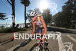 Leanda Cave biking strong at the 2012 Escape from Alcatraz…