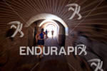 Athletes run through the old gun batteries in the Presidio…