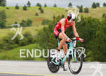 Heather Wurtele on bike at the Ironman Coeur d' Alene…