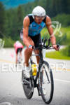 Matthew Russell on bike at the Ironman Coeur d' Alene…