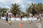 Triathletes on the run