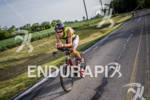 Professional triathletes at the bike leg of Muncie 70.3