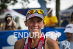 Ironman Muncie 70.3 race winner Kelly Williamson is happy after…