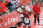 Jeremy Jurkiewicz at the finish of the Ironman European Championship…