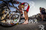 Craig Alexander at the transition of the Ironman 70.3 Racine,…