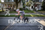 Kristin Andrews early in the bike ride at the Ironman…