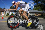 Marko Albert leading the bike at the Ironman 70.3 Racine,…