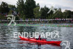 Swim start at the Ironman Lake Placid Triathlon on July…