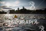 Over 2500 athletes start the swim at the Ironman Lake…