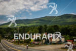 Lone athlete bikes through the Whiteface region at the 2012…