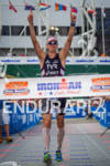 Andy Potts goes 1st in the swim, bike and run…