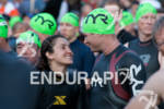 Competitors await the start at the 2012 Ironman Lake Placid…