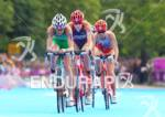 Gwen JORGENSEN (USA) on the bike at the 2012 London…