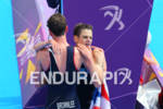 Gold medalist Alistair BROWNLEE (GBR) and his brother Jonathan BROWNLEE…