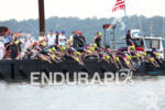 Pro women dive into the Hudson River at the 2012…