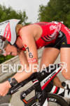 Sarah Piampiano races her bike at the 2012 Ironman U.S.…