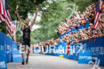 Jodan Rapp about to finish and win the  2012 Ironman…