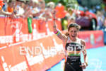 Virginia Berasategui celebrates at the Ironman 70.3 European Championship on…