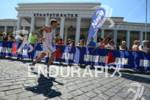 Athlete during the run portion of the Ironman 70.3 European…