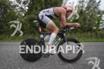 Karl Bordine riding hard at Ironman 70.3 Steelhead in Michigan…